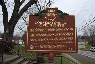 Cornerstone of Civil Rights Marker image. Click for full size.