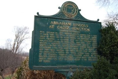 Abraham Lincoln at Cadiz Junction Marker image. Click for full size.