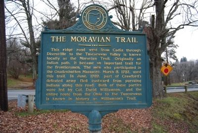 The Moravian Trail Marker image. Click for full size.