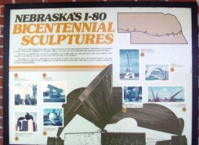 Nebraska's I-80 Bicentennial Sculptures Marker image. Click for full size.