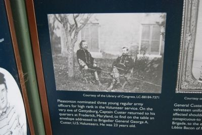 Custer Monument -Interpretive Display image. Click for full size.