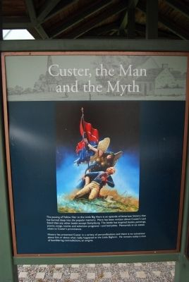 Custer Monument - Interpretive Display image. Click for full size.