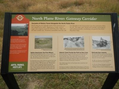 North Platte River: <i>Gateway Corridor</i> Marker image. Click for full size.