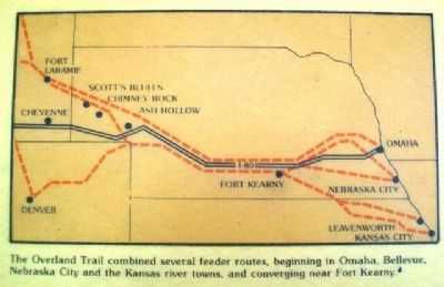 Map on the Overland Trail Marker image. Click for full size.
