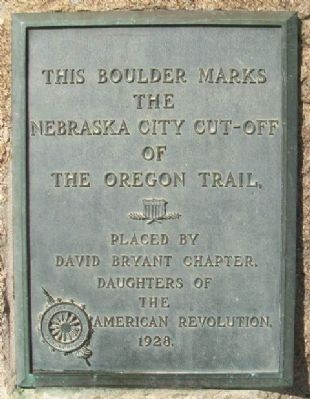 Nebraska City Cut-Off of the Oregon Trail Marker image. Click for full size.