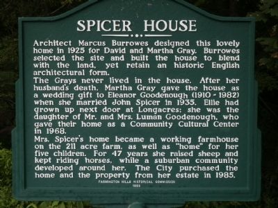 Spicer House Marker image. Click for full size.