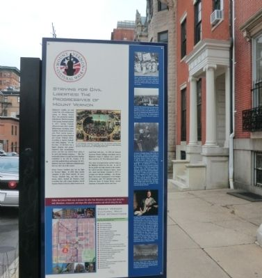 Striving for Civil Liberties: The Progressives of Mount Vernon Marker image. Click for full size.