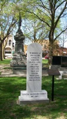 Civil War Monument and Marker image. Click for full size.