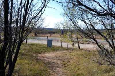 Markers as Viewed from Trail to Cemetery image. Click for full size.