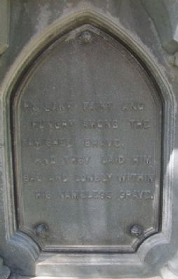 Civil War Memorial Panel Poem image. Click for full size.