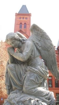 Civil War Memorial Angel image. Click for full size.