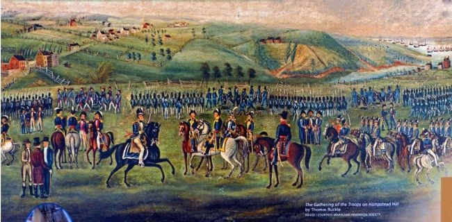 The Gathering of the Troops on Hampstead Hill image. Click for full size.