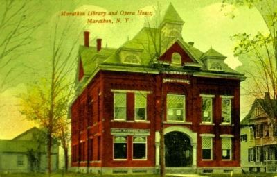 <i>Marathon Library and Opera House, Marathon, N.Y.</i> image. Click for full size.