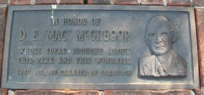 "D. E. ""Mac"" McGregor Marker image. Click for full size."