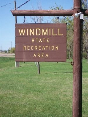 Windmill State Recreation Area Entrance Sign image. Click for full size.