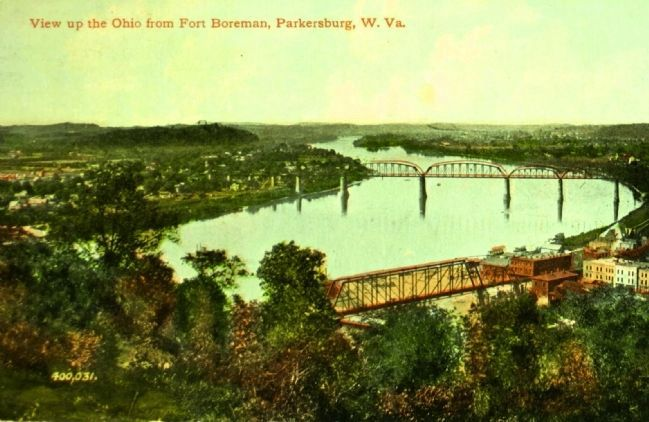 <i>View Up the Ohio From Fort Boreman, Parkersburg, W. Va.</i> image. Click for full size.