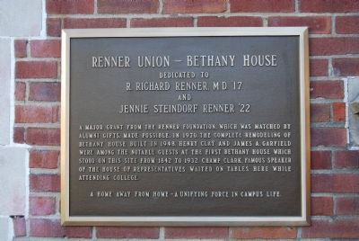 Renner Union - Bethany House Marker image. Click for full size.