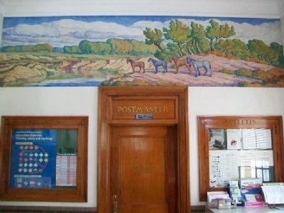 "Birger Sandzen's Mural ""Kansas Stream"" in Belleville Post Office image. Click for full size."