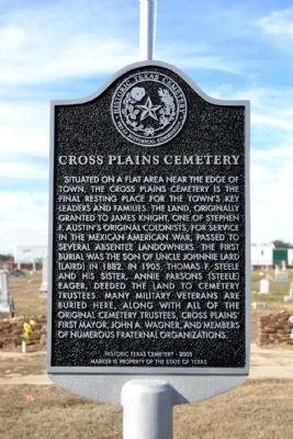 Cross Plains Cemetery Marker image. Click for full size.