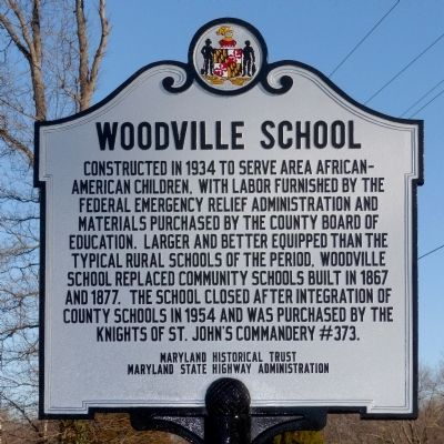 Woodville School Marker image. Click for full size.