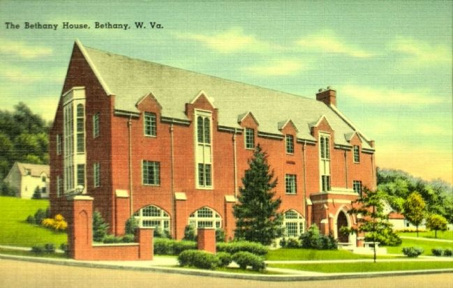 <i>The Bethany House, Bethany W. Va.</i> image. Click for full size.