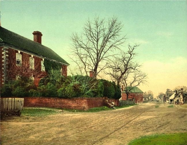 <i>Nelson House and Main Street, Yorktown, Virginia</i> image. Click for full size.