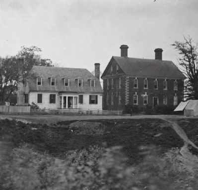 <i>Yorktown, Va. Thomas Nelson house (right), used as a hospital;…</i> image. Click for full size.