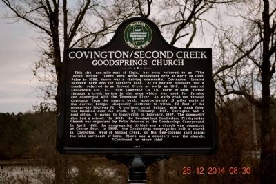 Covington/Second Creek marker image. Click for full size.