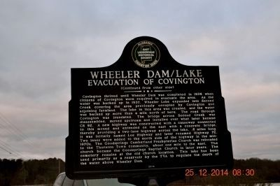 Wheeler Dam/Lake marker image. Click for full size.