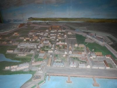 Diorama of Fortress of Louisbourg image. Click for full size.