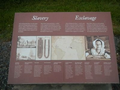 Slavery / Esclavage Marker image. Click for full size.