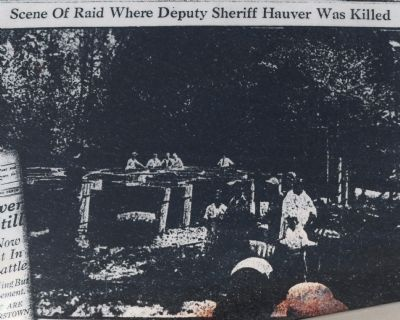 Scene of Raid Where Deputy Sheriff Hauver Was Killed image. Click for full size.