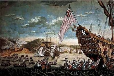 The Siege Landing, 1745 (King George's War) image. Click for full size.