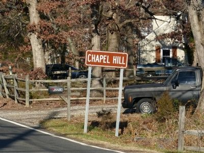 Chapel Hill Sign<br>at 12214 Old Fort Road image. Click for full size.