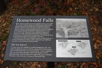 Homewood Falls Marker image. Click for full size.
