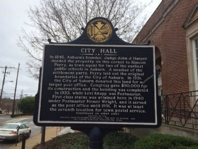 Side 1 - City Hall Marker image. Click for full size.