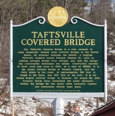 Taftsville Covered Bridge Marker image. Click for full size.