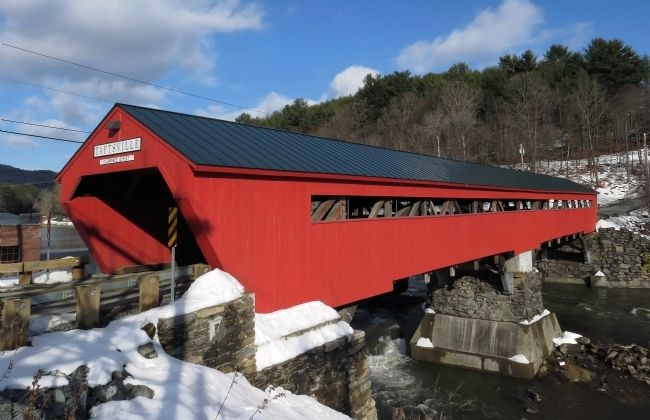 Taftsville Covered Bridge image. Click for full size.