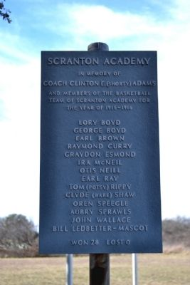 Scranton Academy Basketball Team Commemoration image. Click for full size.