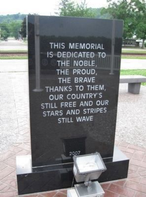 The Cassville Veterans Memorial<br> Dedication Monument image. Click for full size.