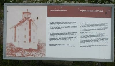 19th-Century Lighthouse Marker image. Click for full size.