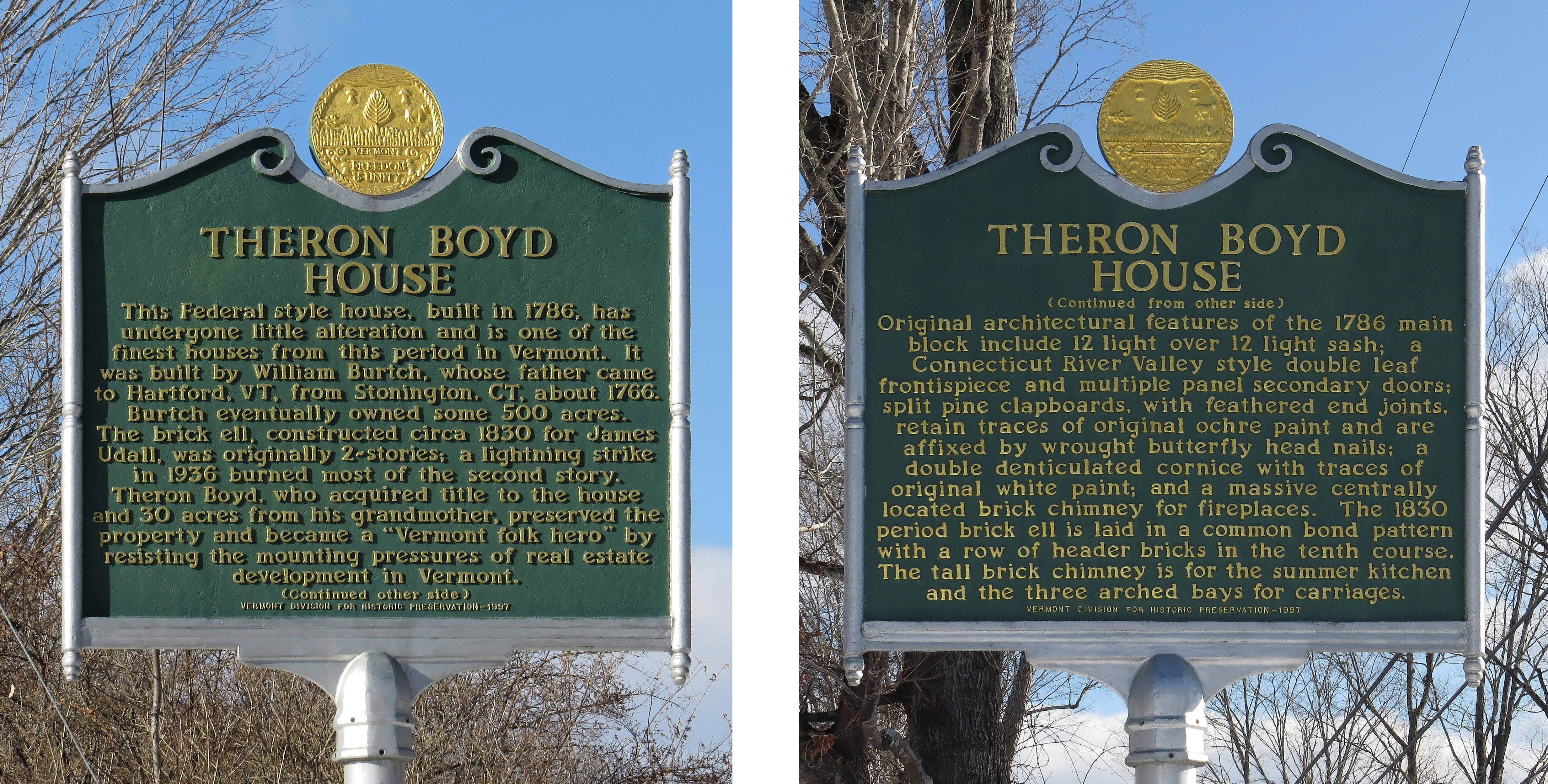 Theron Boyd House Marker