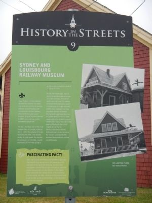 Sydney and Louisbourg Railway Museum Marker image. Click for full size.