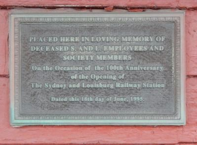 Sydney and Louisburg Railway Memorial image. Click for full size.
