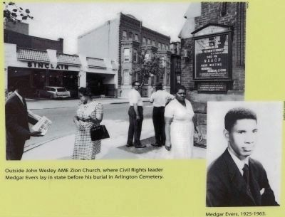 Medgar Evers & John Wesley AME Zion Church image. Click for full size.