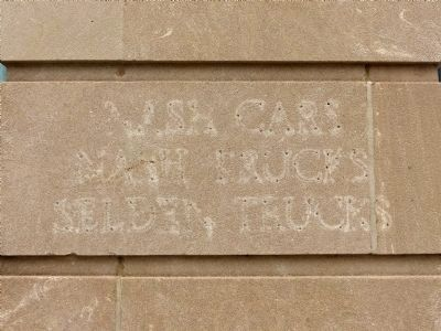 Etched into the corner of the building image. Click for full size.