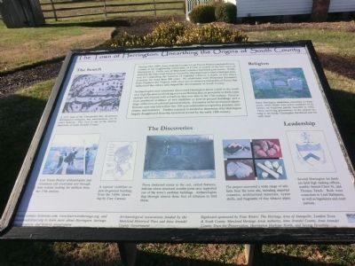 The Town of Herrington: Unearthing the Origins of South County Marker image. Click for full size.