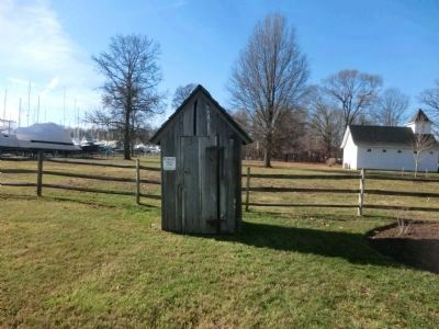 Outhouse circa 1890-Shady Side, MD image. Click for full size.