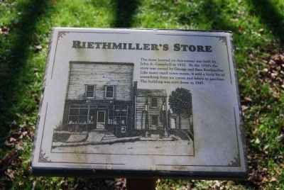 Riethmiller's Store Marker image. Click for full size.
