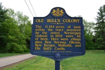 Ole Bull's Colony Marker image. Click for full size.